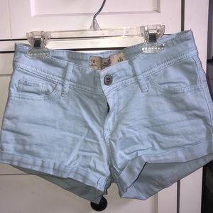 Hollister Light Blue short-short low rise Shorts
